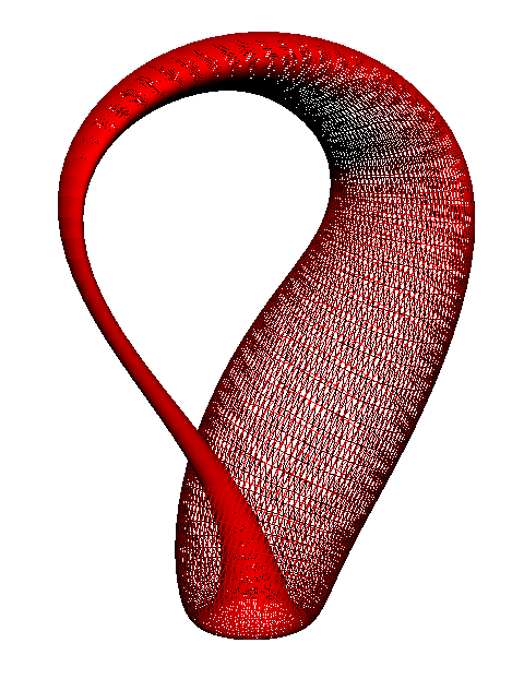 David S.'s Klein bottle generated using the surface command.